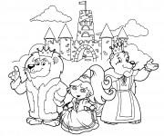 Coloriage Le rayause de la princesse Dora