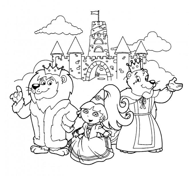 Coloriage et dessins gratuits Le rayause de la princesse Dora à imprimer