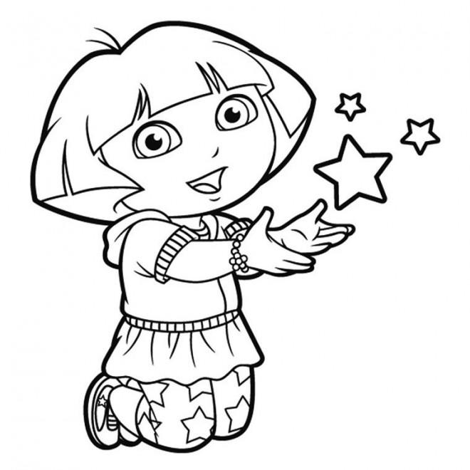 Coloriage Magique Dora dessin gratuit à imprimer