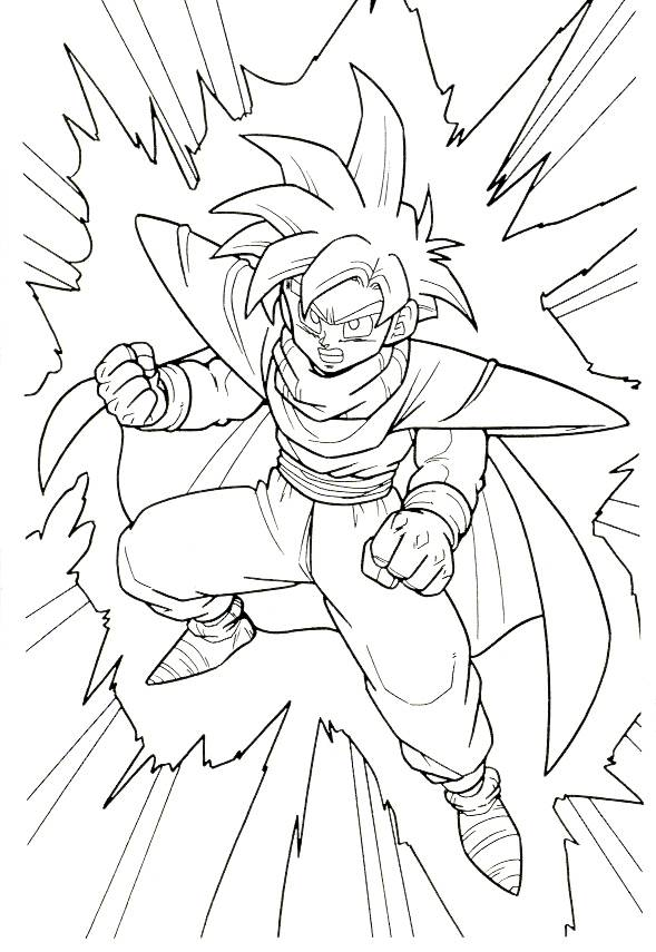 Coloriage Dragon Ball Z A Colorier Gratuit