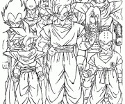 Coloriage Dragon Ball Z à imprimer