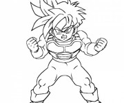 Coloriage Dragon Ball Z à imprimer sangoku