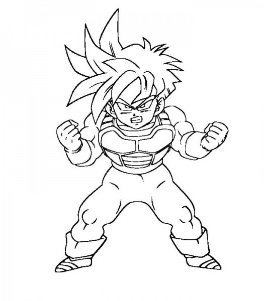 Coloriage dragon ball z imprimer sangoku - Dessin de dragon ball super ...