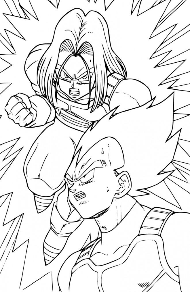 Coloriage Dragon Ball Z à imprimer Vegeta dessin gratuit à ...