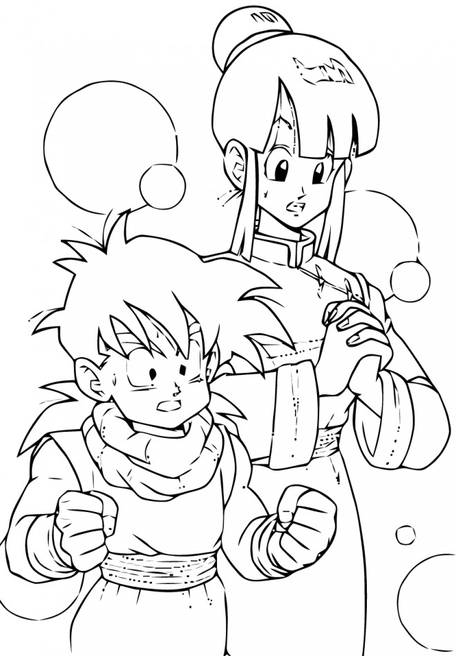 Coloriage dragon ball z chichi dessin gratuit imprimer - Coloriage gratuit dragon ball z ...
