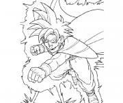 Coloriage Dragon Ball Z  combat