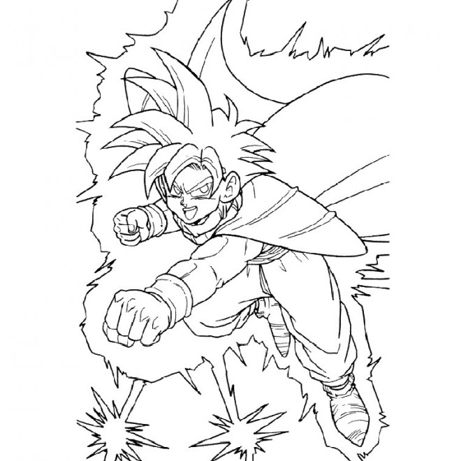 Coloriage dragon ball z combat dessin gratuit imprimer - Coloriage gratuit dragon ball z ...