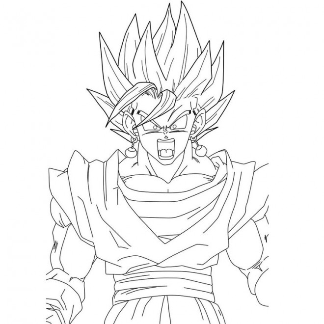 Coloriage dragon ball z en col re dessin gratuit imprimer - Dessin de vegeta ...