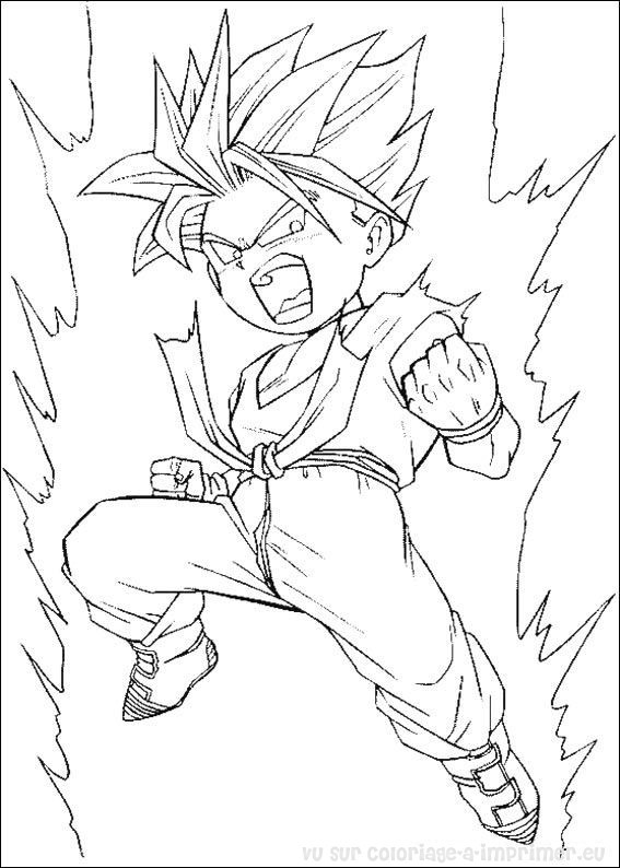 Coloriage dragon ball z en force dessin gratuit imprimer - Dessin de dragon ball super ...