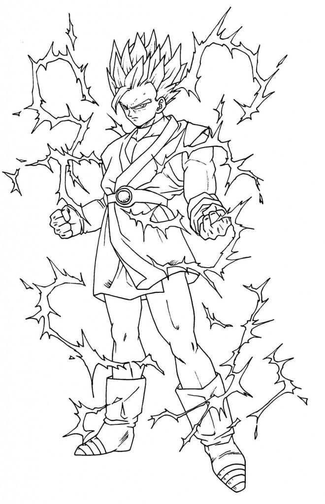 Coloriage Dragon Ball Z En Ligne Gratuit Dessin Gratuit A Imprimer