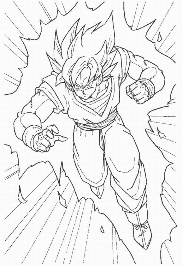 Coloriage dragon ball z gohan dessin gratuit imprimer - Coloriage gratuit dragon ball z ...
