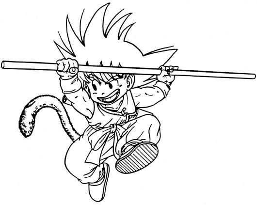 Coloriage Dragon Ball Z Goku Dessin Gratuit à Imprimer