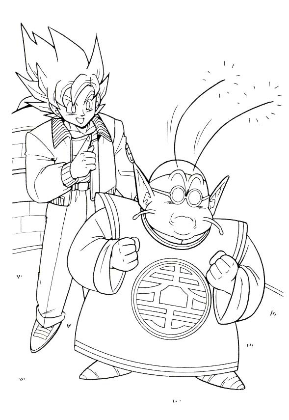 Coloriage Dragon Ball Z Kai Dessin Gratuit A Imprimer