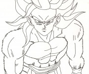 Coloriage Dragon Ball Z  sangoku super sayen 10