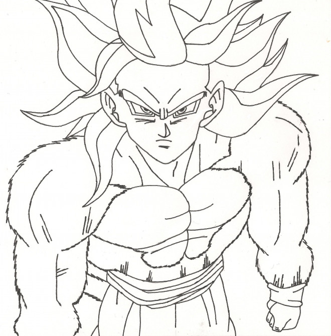 Coloriage Dragon Ball Z Sangoku Super Sayen 10 Dessin Gratuit A