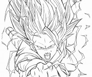 Coloriage et dessins gratuit Dragon Ball Z Songoku à imprimer