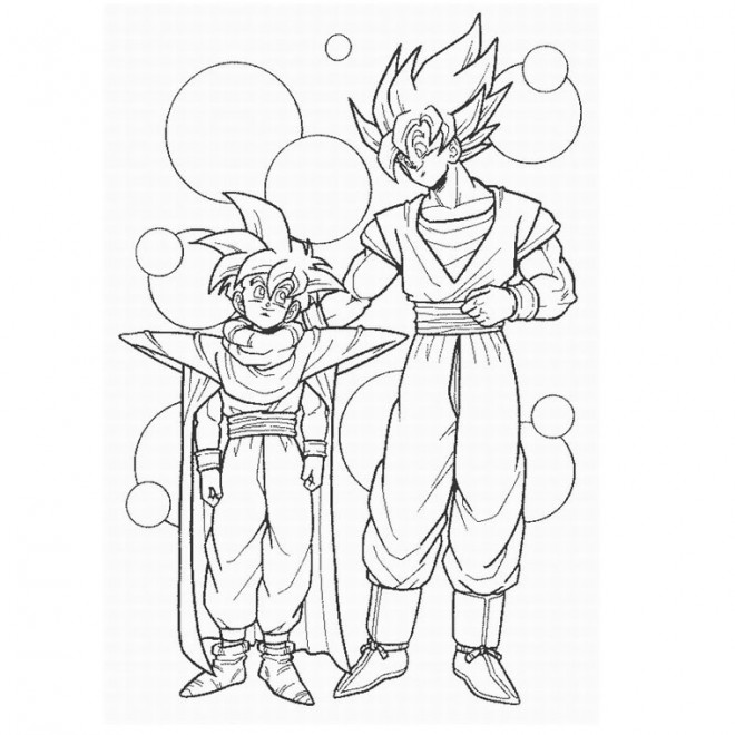 Coloriage Dragon Ball Z Songoku Super Sayen 4 Dessin Gratuit