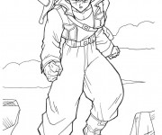 Coloriage et dessins gratuit Dragon Ball Z Trunks à imprimer