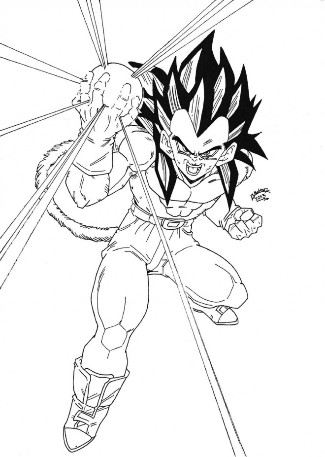 Coloriage Dragon Ball Z Vegeta Dessin Gratuit à Imprimer