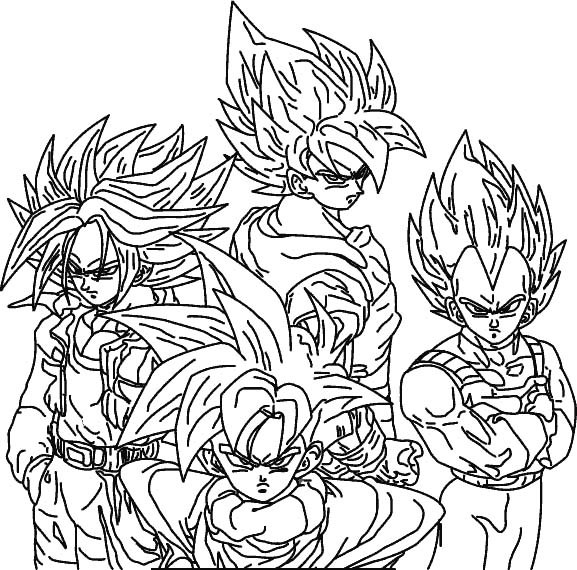 Coloriage Dragon Ball Z Vegetta Dessin Gratuit A Imprimer