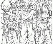 Coloriage les personnages Dragon Ball Z