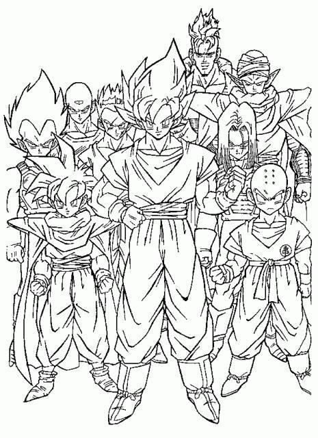 Coloriage et dessins gratuits les personnages Dragon Ball Z à imprimer