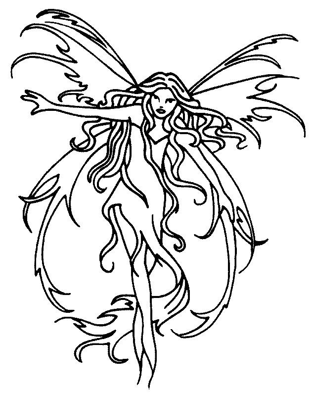 Coloriage et dessins gratuits Elfe Fantastique à imprimer
