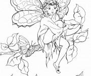 Coloriage dessin  Elfe 18
