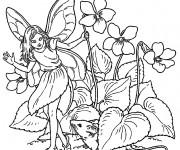 Coloriage Elfe 19