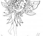 Coloriage dessin  Elfe 3