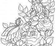 Coloriage et dessins gratuit Elfe à décorer à imprimer