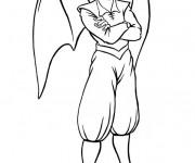 Coloriage et dessins gratuit Elfe avec des ailes à imprimer