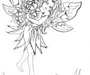 Coloriage et dessins gratuit Elfe en ligne à imprimer