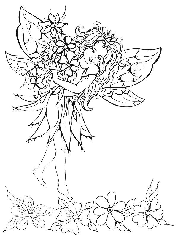 Coloriage elfe en ligne dessin gratuit imprimer - Manga coloriage elfe ...