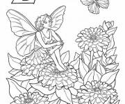 Coloriage et dessins gratuit Elfe en vecteur à imprimer
