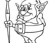 Coloriage et dessins gratuit Elfe et Coloriage à imprimer