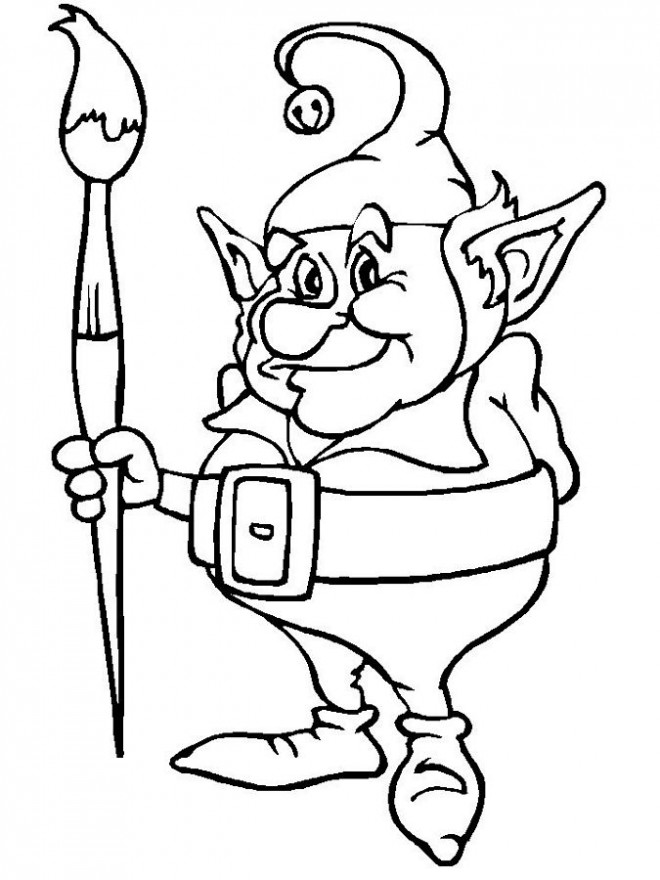 Coloriage et dessins gratuits Elfe et Coloriage à imprimer
