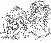 Coloriage et dessins gratuit Elfe et Fées à imprimer