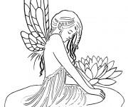 Coloriage et dessins gratuit Elfe Farran à imprimer