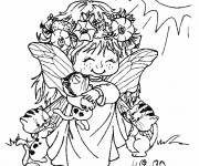 Coloriage et dessins gratuit Elfe mignonne à imprimer
