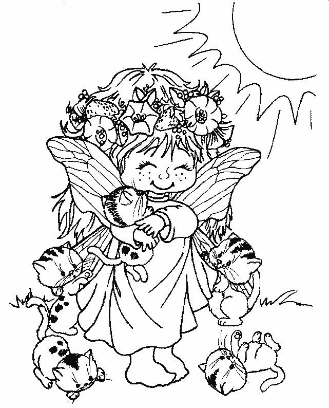 Coloriage elfe mignonne dessin gratuit imprimer - Manga coloriage elfe ...