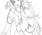 Coloriage et dessins gratuit Elfe très belle au crayon à imprimer