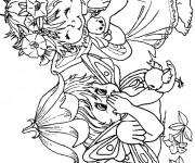 Coloriage et dessins gratuit Les Petits Elfes à imprimer