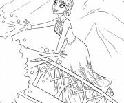 Coloriage et dessins gratuit Elsa en ligne à imprimer