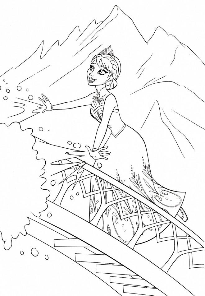 Coloriage et dessins gratuits Elsa en ligne à imprimer