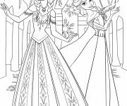 Coloriage et dessins gratuit Elsa et  Anna à imprimer gratuit à imprimer