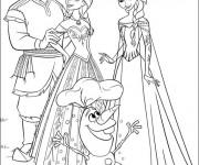 Coloriage et dessins gratuit Elsa et sa famille à imprimer
