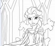 Coloriage et dessins gratuit Elsa fâché à imprimer