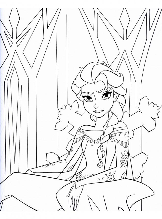 Coloriage et dessins gratuits Elsa fâché à imprimer