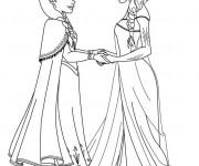 Coloriage et dessins gratuit Elsa la reine de neige  à imprimer à imprimer